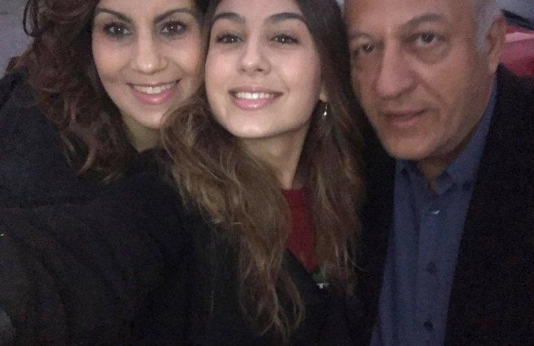 Με τη σύζυγό του Αγγελική Νύκτα και την κόρη τους Μαριλένα