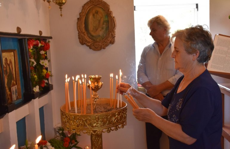 Η κ. Μαρία που είχε φέτος την εορτή του Προφήτη Ηλία