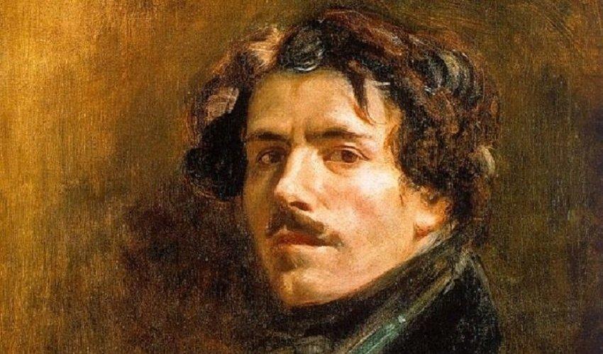 Πορτραίτο του Γάλλου ρομαντικού εικαστικού του 19ου αιώνα Eugene Delacroix