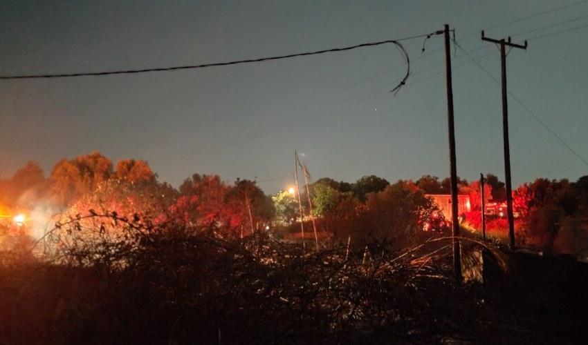 Το σημείο από το οποίο πιθανολογείται ότι ξεκίνησε η πυρκαγιά του Σαββάτου.