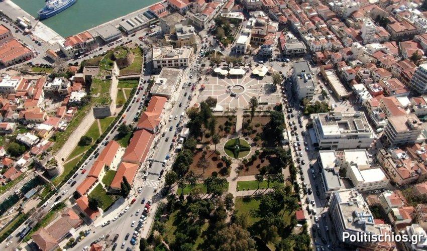 """Πανοραμική φωτογραφία από το Drone του """"π"""" στον Δημοτικό Κήπο"""