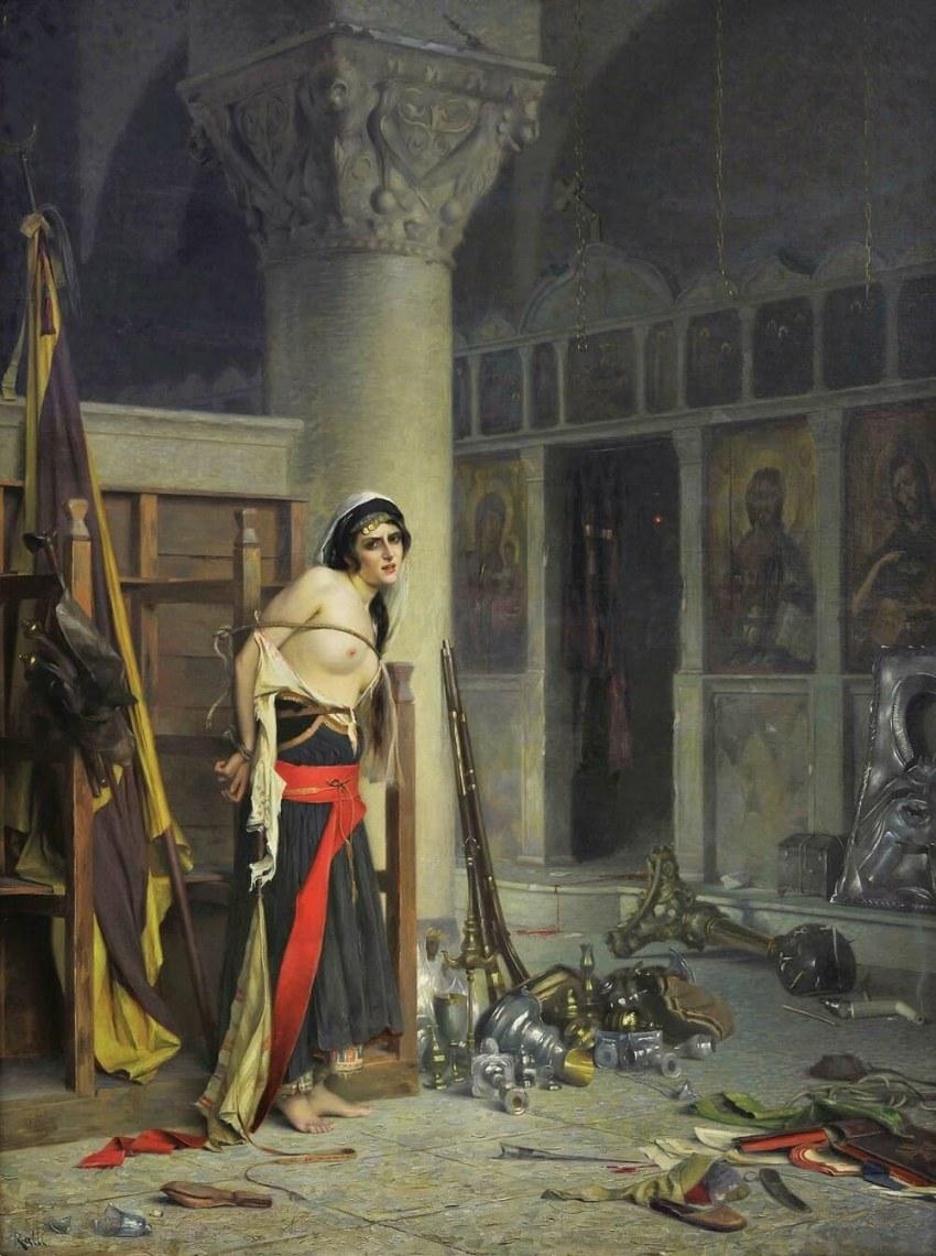 «Η λεία» επίσης λάδι σε μουσαμά, 133 x 100 εκ. Αθήνα, Εθνική Πινακοθήκη – Μουσείο Αλεξάνδρου Σούτζου, Συλλογή Ιδρύματος Ε. Κουτλίδη
