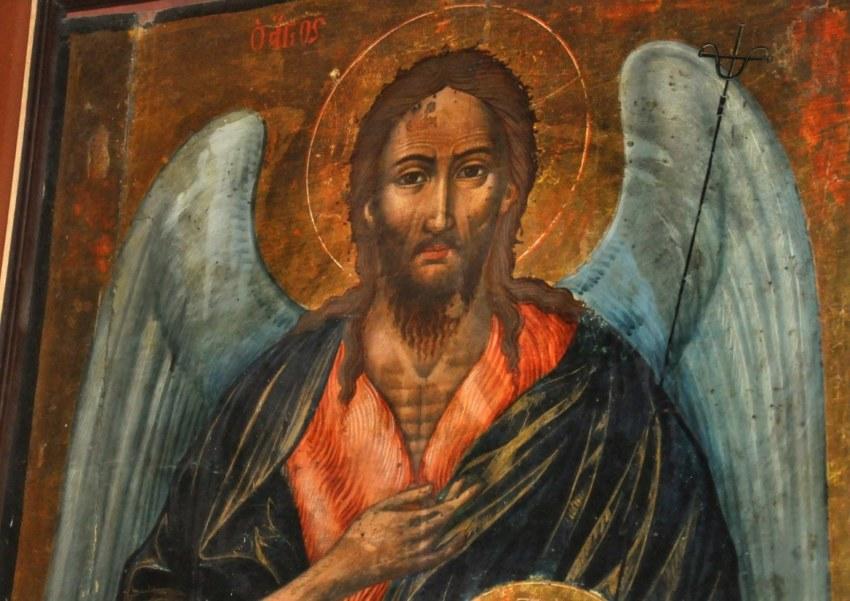 Η μορφή του Αρχαγγέλου Μιχαήλ σε λεπτομέρεια.