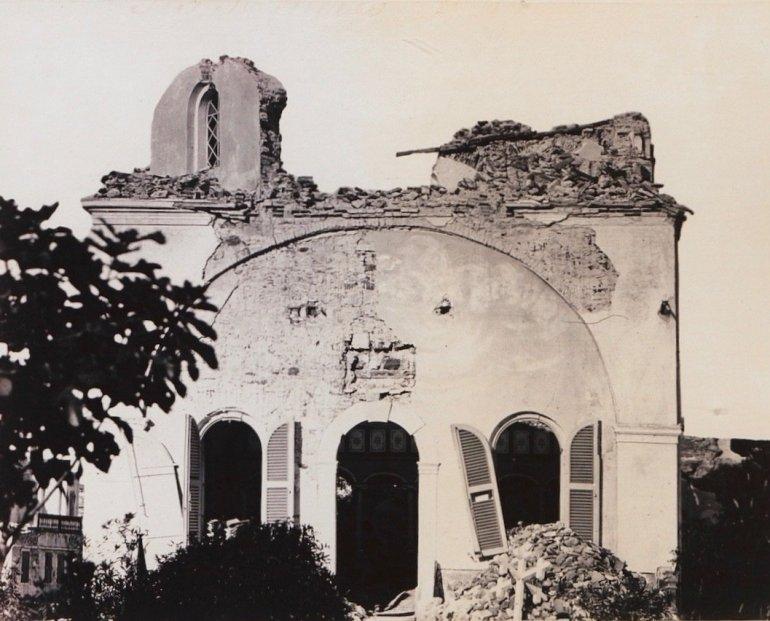 Ο ιστορικός ιερός ναός της Αγίας Κυριακής (του Εξ' Απορρήτων Μαυροκορδάτου) του κτήματος Χωρέμη.