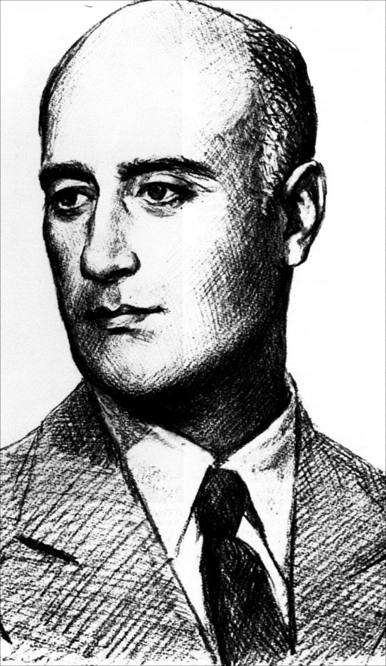 Σκίτσο με την προσωπογραφία του Γ. Θεοτοκά