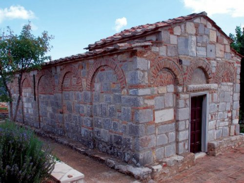 Xίος, Καλαμωτή. O ναός της Παναγίας Αγρελωπούσαινας από τα βορειοδυτικά.