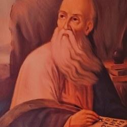 Άλλη εκδοχή του Αγίου, φιλοτεχνημένη από τον Γεώργιο Κεφάλα. Βρίσκεται στον Ιερό Ναό.