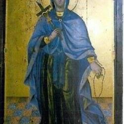 Η Αγία Ματρώνα η Χιοπολίτις είναι και η μόνη εικόνα που έχει συντηρηθεί και μαρτυρά την ηλικία , όπως και την ομοιομορφία μεταξύ τους.