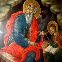 Ο Άγιος Ιωάννης ο Θεολόγος είναι η μόνη εικόνα που επεστράφη στο Χωριό, αφού είναι και η μόνη που είχε παραμείνει στο νησί των Σπετσών.