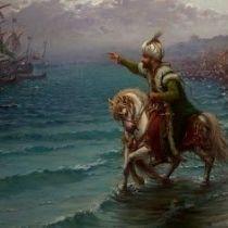 Ο Μωάμεθ ο Β΄ ο Πορθητής επιθεωρεί τη μεταφορά στρατευμάτων του για την Άλωση.