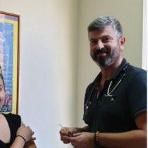 Φωτογραφία από τον αντιγριπικό εμβολιασμό των εργαζομένων του Κέντρου Παιδιού και Εφήβου το 2019