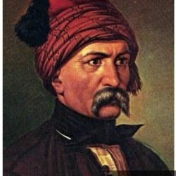 Ο Ψαριανός μπουρλοτιέρης Κων. Κανάρης, σε μια από τις αναγνωρίσιμες προσωπογραφίες του κατά τα χρόνια του Αγώνα.